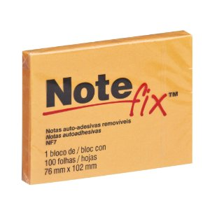 BLOCO ADESIVO NOTEFIX NF7 76MMX102MM LARANJA 100 FLS - 3M