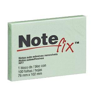 BLOCO ADESIVO NOTEFIX NF7 76MMX102MM VERDE 100 FLS - 3M