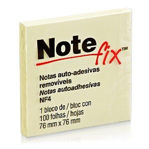 BLOCO ADESIVO NOTEFIX NF4 76MMX76MM AMARELO 100 FLS - 3M