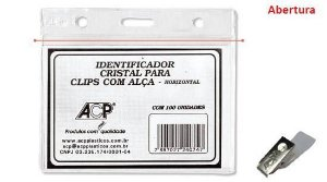 CRACHÁ IDENTIFICADOR CRISTAL COMPLETO HORIZONTAL - ACP