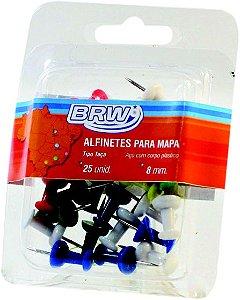 ALFINETE PARA MAPA 8MM TAÇA C/25 UNIDADES - BRW