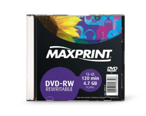 DVD-RW REGRAVÁVEL 4.7GB SLIM - MAXPRINT