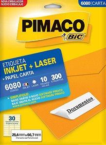 ETIQUETA CARTA 6080 10 FOLHAS - PIMACO