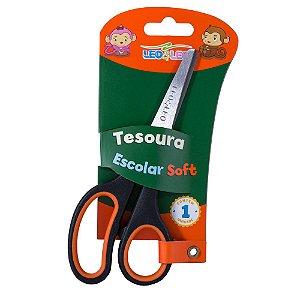 TESOURA ESCOLAR SOFT 14CM - LEO&LEO