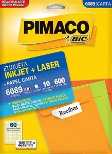 ETIQUETA CARTA 6089 10 FOLHAS - PIMACO