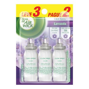 BOM AR AIR WICK CLICK SPRAY LAVANDA L3P2 REFIL  - 12ML