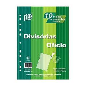 DIVISÓRIA 10 DIVISÕES OFÍCIO VISOR TRANSPARENTE 10INTB CRISTAL - YES