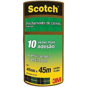 FITA DE EMPACOTAMENTO SCOTCH 5802 MARROM 45MMX45M C/4 UNIDADES - 3M