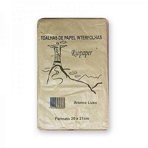 PAPEL TOALHA INTERFOLHAS 20X21 BRANCO - RIOPAPER