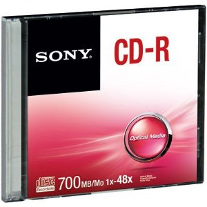 CD-R GRAVÁVEL 700MB SLIM - SONY