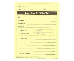 NA SUA AUSÊNCIA AMARELO C/50 FLS - FORTAN