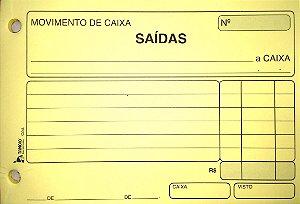 MOVIMENTO DE CAIXA SAÍDAS AMARELO C/50 FLS - TAMOIO