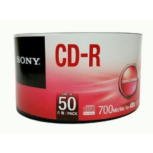 CD-R GRAVÁVEL 700MB PACK C/50 UNIDADES - SONY