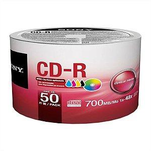 CD-R GRAVÁVEL 700MB PRINTABLE PACK C/50 UNIDADES - SONY