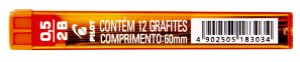 GRAFITE 0.5MM 2B C/12 GRAFITES - PILOT