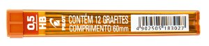 GRAFITE 0.5MM HB C/12 GRAFITES - PILOT