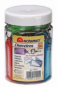 CHAVEIROS (POTE COM 24 CHAVEIROS) 141.0 SORTIDOS - ACRIMET