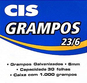GRAMPO GALVANIZADO 23/6 C/1000 UNIDADES - CIS