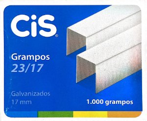 GRAMPO GALVANIZADO 23/17 C/1000 UNIDADES - CIS