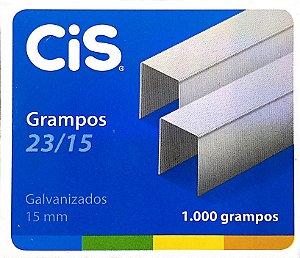 GRAMPO GALVANIZADO 23/15 C/1000 UNIDADES - CIS