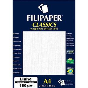 PAPEL LINHO 180 G/M² A4 BRANCO C/50 FLS - FILIPERSON