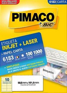 ETIQUETA CARTA 6183 100 FOLHAS - PIMACO