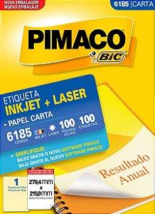 ETIQUETA CARTA 6185 100 FOLHAS - PIMACO