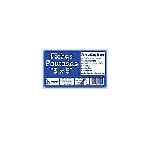 FICHAS PAUTADAS 3X5 C/100 UNIDADES - TAMOIO