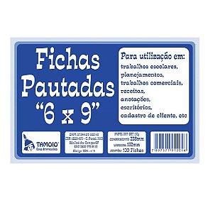 FICHAS PAUTADAS 6X9 C/100 UNIDADES - TAMOIO