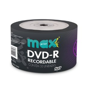 DVD-R GRAVÁVEL 4.7GB BULK C/50 UNIDADES - MAXPRINT