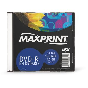 DVD-R GRAVÁVEL 4.7GB SLIM - MAXPRINT