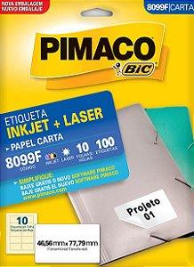 ETIQUETA CARTA 8099F 10 FOLHAS - PIMACO