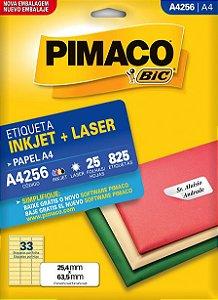 ETIQUETA A4 A4256 25 FOLHAS - PIMACO