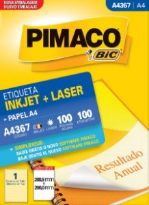 ETIQUETA A4 A4367 100 FOLHAS - PIMACO