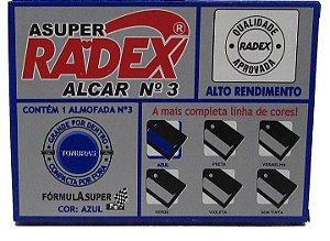 ALMOFADA PARA CARIMBO ALCAR Nº 3 AZUL - RADEX