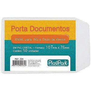 PORTA DOCUMENTOS C/ABA 75MMX105MM C/50 UNIDADES - PLASTPARK