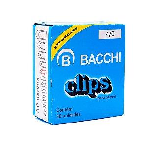 CLIPS Nº 4/0 AÇO GALVANIZADO C/50 UNIDADES - BACCHI