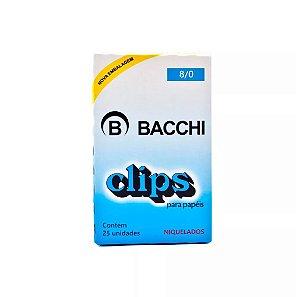 CLIPS Nº 8/0 AÇO NIQUELADO C/25 UNIDADES - BACCHI