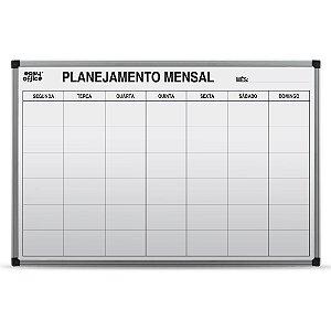 QUADRO BRANCO 90CMX60CM PLANEJAMENTO MENSAL - EASY OFFICE