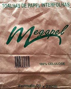 PAPEL TOALHA INTERFOLHAS 21X23 CELULOSE C/1000 FLS - MEGAPEL