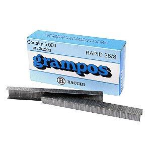 GRAMPO 26/8 GALVANIZADO C/5000 UNIDADES - BACCHI