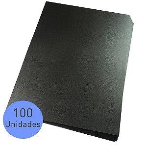 CAPA DE PVC A3 PRETA C/100 UNIDADES - LASSANE