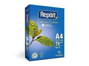 PAPEL REPORT COLORIDO A4 210MMX297MM AZUL - 500 FLS