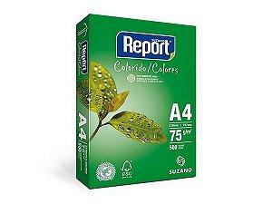 PAPEL REPORT COLORIDO A4 210MMX297MM VERDE - 500 FLS