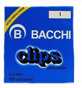CLIPS  Nº 1 AÇO GALVANIZADO C/100 UNIDADES - BACCHI