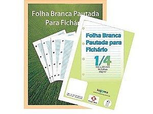 FOLHA PAUTADA PARA FICHÁRIO 1/4 C/96 FLS - KAJOMA