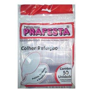 COLHER REFEIÇÃO PREMIUM CRISTAL C/50 UNIDADES - PRAFESTA