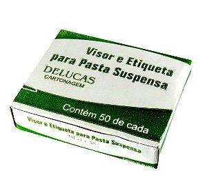 VISOR E ETIQUETA PARA PASTA SUSPENSA C/50 UNIDADES - DELUCAS