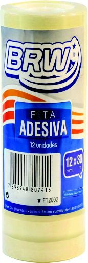 FITA ADESIVA 12MMX30M C/12 UNIDADES - BRW