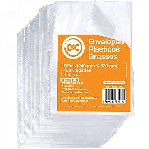 SACO PLÁSTICO OFÍCIO 4 FUROS GROSSO C/100 UNIDADES - DAC